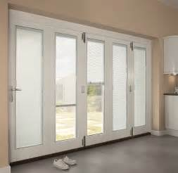 Exterior Doors With Built In Blinds Exterior Interior Modern White Wooden Patio Doors With Rolling Blinds Patio Doors With