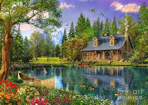 Lake Cottage Plans by Crystal Lake Cabin Digital Art By Dominic Davison