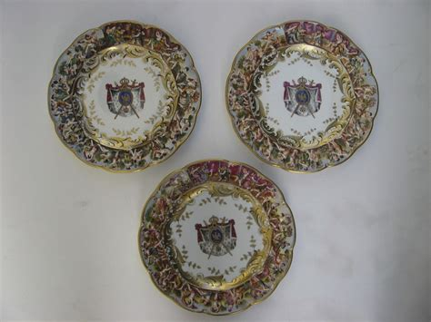 Capodimonte Set 3 set of three 3 capodimonte bas relief plates 8 3 4 quot from blacktulip on ruby