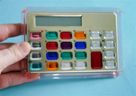 vintage 1990s gem jeweled calculator works we and