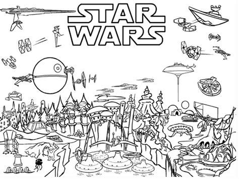 cornice da stare 10 disegni di wars da colorare