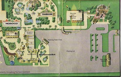 Busch Gardens Park Map by Eric S Brochure Kingdom The Return Page 5 Theme Park
