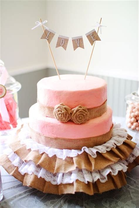 shabby chic vintage glam bridal wedding shower party ideas skirts cake and bridal shower party
