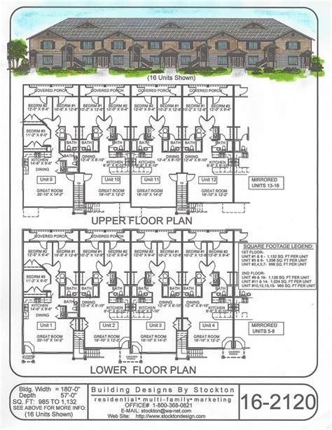 apartment complex floor plans building designs by stockton plan 16 2120 apartment