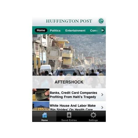 huffington post sections the best iphone news apps