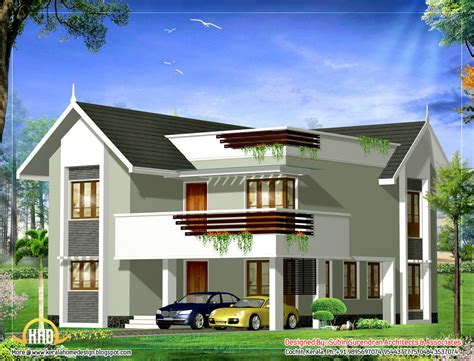 duplex house february 2012 kerala home design and floor plans