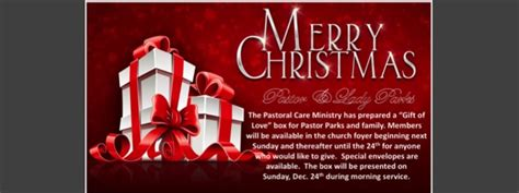 christmas gift for a pastor pilgrim mbc