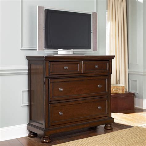 ashley furniture dresser chest ashley furniture porter media chest with drop drawer