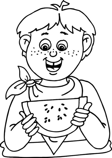 free coloring pages of eating healthy
