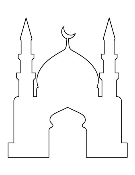 design masjid pdf mosque pattern use the printable outline for crafts