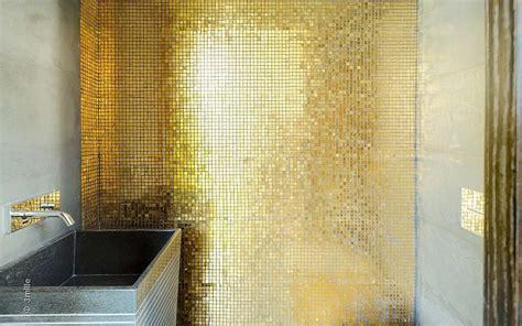 gold bathroom tile gold mosaic tiles interior design ideas