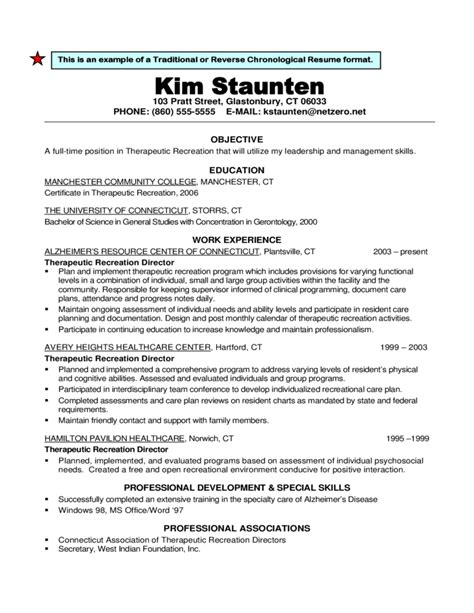 chronological resume format for experienced it professionals traditional or chronological resume format free