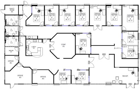 the floor plan of a new building is shown office building floor plan with office building floor plans