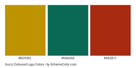 gucci colors gucci coloured logo color scheme 187 brand and logo