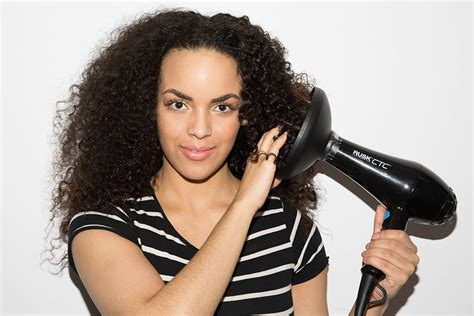 Hair Dryer Diffuser Tutorial drying curly hair without a diffuser curly hair