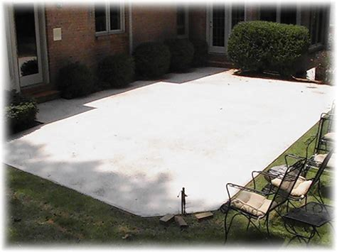 how to clean cement patio concrete cleaning exle