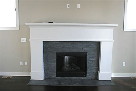 Painting Slate Fireplace by Custom Gas Heatilator Fireplace With Painted Wood Mantle