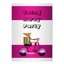 invitation going away bike luggage invites zazzle