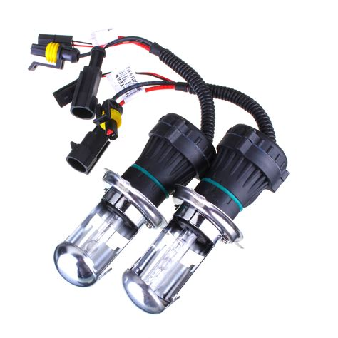 h4 35w bixenon 6000k replacement bulbs globes x 2 for