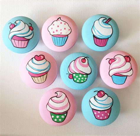 Girly Drawer Knobs by Girly Vintage Cupcakes Drawer Pulls Dresser Knobs Closet