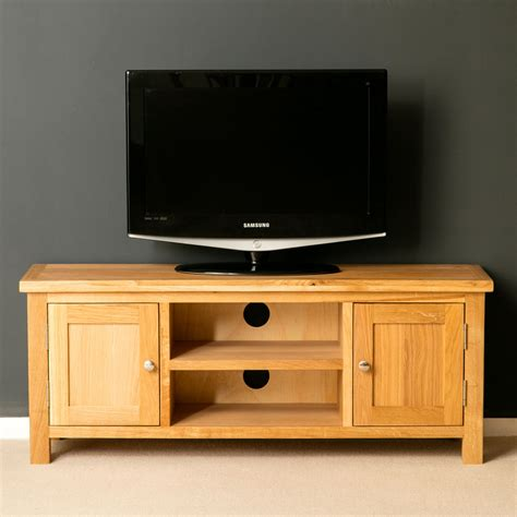 Oak Tv Cabinets by Oak Tv Stand Brand New Plasma Tv Cabinet Solid