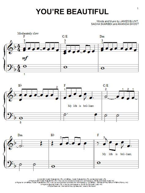 tutorial piano you re beautiful you re beautiful sheet music by james blunt piano big