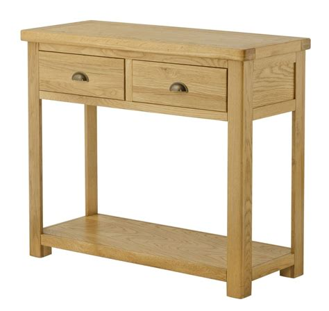 Oak Console Table With Drawers Portland Oak Console Table With 2 Drawers