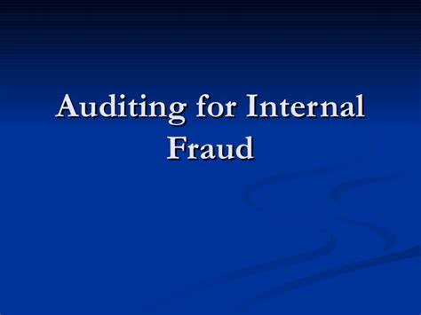Fraud Auditing Invetigation auditing for fraud