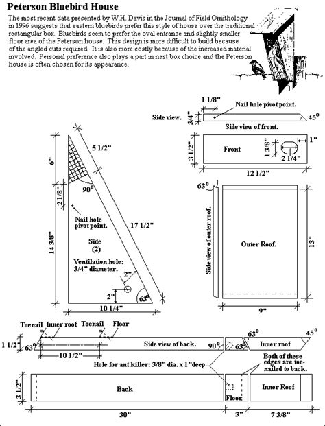 peterson bluebird nest box plans free the peterson house