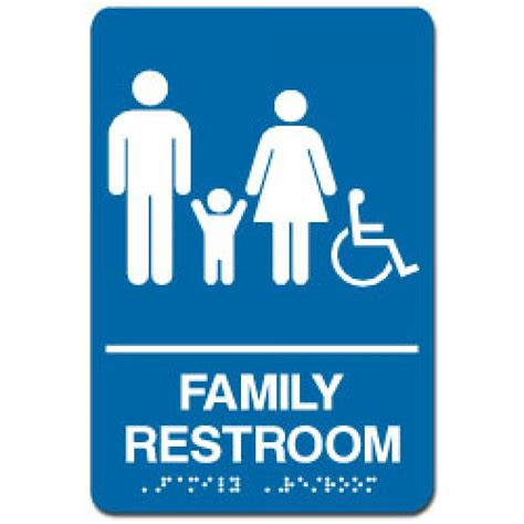 family bathroom sign family restroom sign