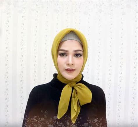 tutorial hijab paris segi empat simple pesta kuliah
