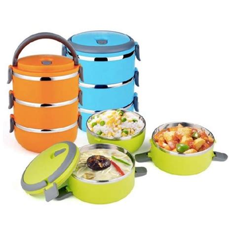 Lunch Box Kotak Makan Susun 2 rantang 3 susun kotak makan stainless steel lunch box 2 1