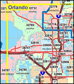 florida zip code map orlando orange county florida map with zip codes criesoftheheart