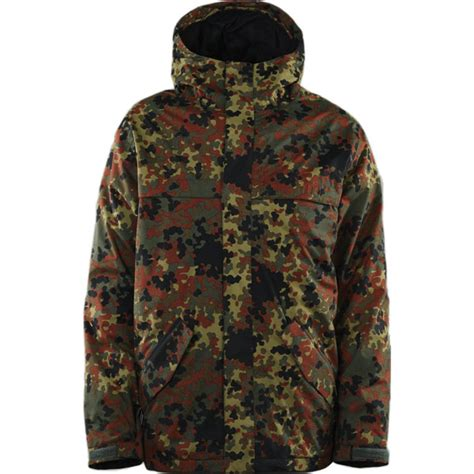 army patterned ski jacket thirtytwo sonora snowboard jacket army outerwear