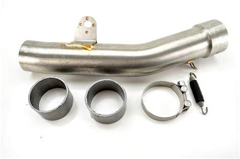 Akrapovic Stenlis 09 13 kawasaki zx600 zx 6r akrapovic stainless steel link pipe l k6so8 1 ebay