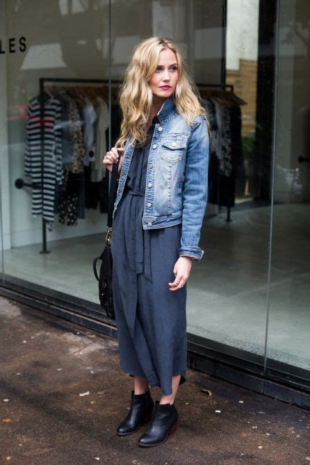 blue jean dress with boots s blue denim jacket navy maxi dress black leather