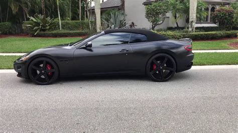 satin black maserati for sale satin matte black maserati granturismo wrapped