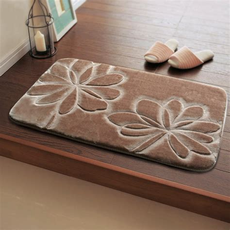 Classic 3d Cut Flowers Pattern Slip Resistant 50 80 Mat Rugs For Bathroom Floor