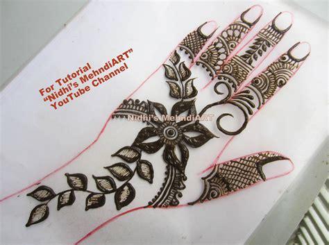 tutorial design henna gulf style floral henna mehndi designs with tutorial