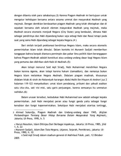 Buku Piagam Madinah Undang Undang Dasar Ahmad Sukaradja Yi 76766335 pemerintahan pada masa nabi
