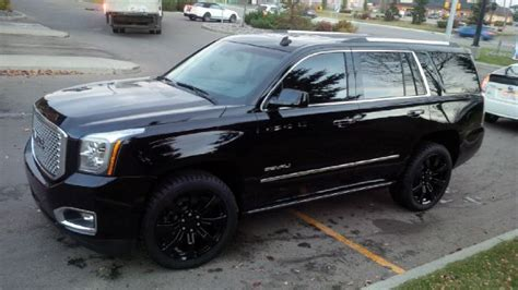 Gmc Yukon Denali Blacked Out by My 2015 Yukon Denali With Mirror Ming Paint Protection