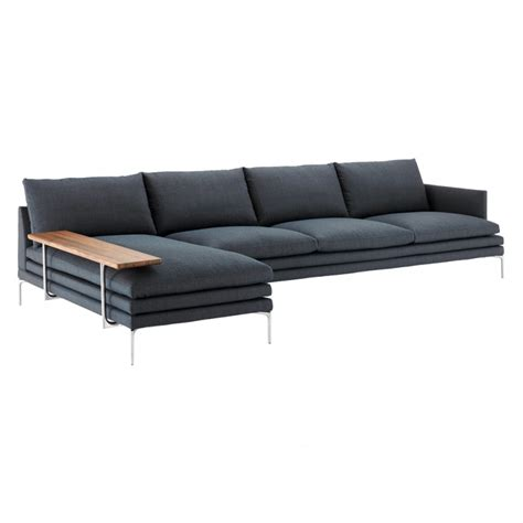 modular lounge with chaise william chaise modular sofa walnut shelf 3 seater the