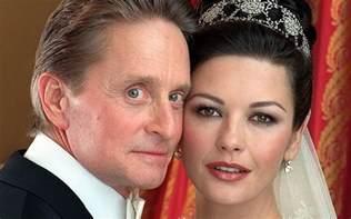 Michael douglas and catherine zeta jones at their wedding at new york