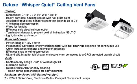 Bathroom Fan Specs Bathroom Ventilation Low Cost Ceiling Exhaust Fans