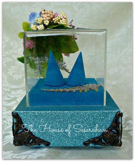 Kotak Cincin Wooden Ringbear Tray the house of seserahan seserahan tema biru