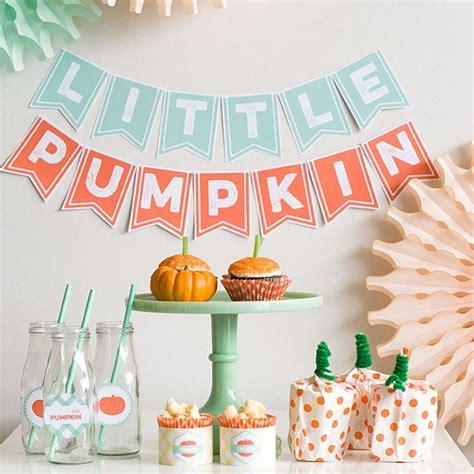 pumpkin baby shower ideas pretty  party
