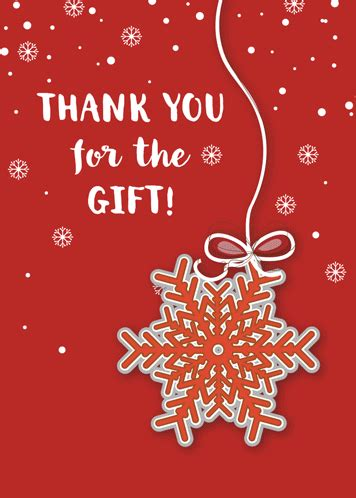 thank you for christmas gift free thank you ecards