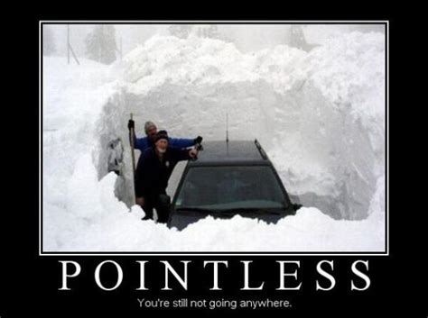 Driving In Snow Meme - pointless car humor