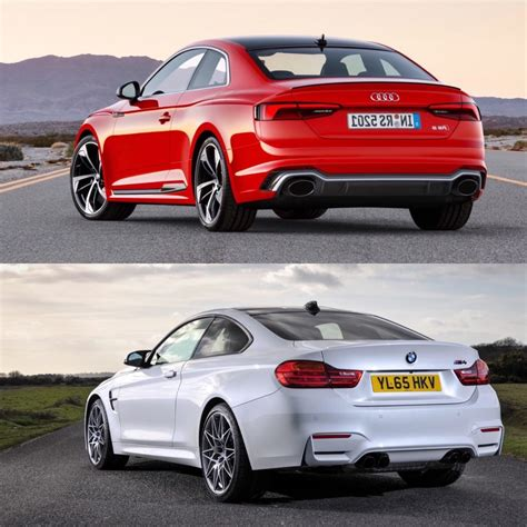 audi vs bmw which is better photo comparison bmw m4 competition package vs audi rs5