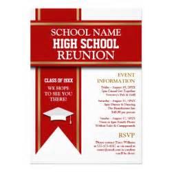 school colors banner custom class reunion 5 quot x 7 quot invitation card zazzle